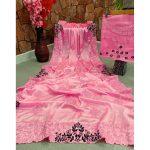 Lichi Silk Saree Pink